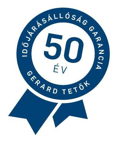 50 év garancia a Gerard tetőlemezekre