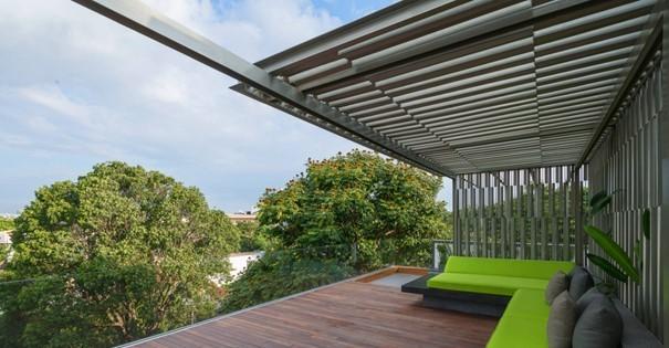 A külső terek árnyékolásának 7 elegáns megoldása